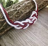 Náhrdelníky - Uzlový náhrdelník z dvoch šnúr - 7896872_