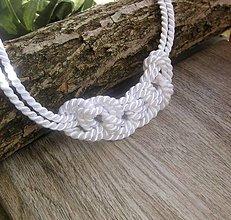 Náhrdelníky - Uzlový náhrdelník biely 2. - 7896949_