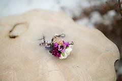 """Náramky - Kvetinový náramok na drôtiku """"sladká uspávanka"""" - 7895068_"""