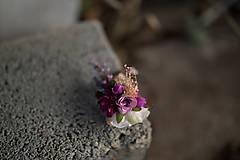 """Náramky - Kvetinový náramok na drôtiku """"sladká uspávanka"""" - 7895073_"""