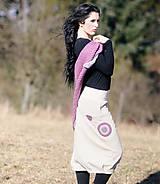 Sukne - Béžová bavlněná sukně - 7897304_