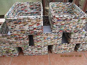 Košíky - pestrofarebné košíky - 7895190_
