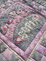 Úžitkový textil - Prehoz s vtáčikmi a menom :) - 7898294_