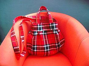 Veľké tašky - Tartan III.-  stredne veľká taška - 7894373_