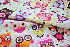 Textil - Sovičky veľké ružové - 7900570_