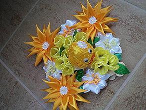 Dekorácie - Jarná dekorácia kuriatko 3 - 7901511_