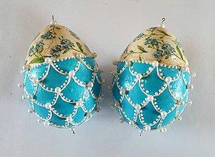 Dekorácie - Vajíčka s perličkami - 7902099_