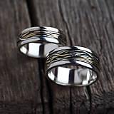 Prstene - Prepletené cesty osudu /prelínanie farieb/ - 7902494_