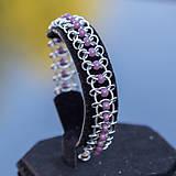Korálkový hřbet - náramok (světle fialový)