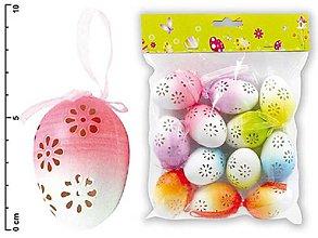 Dekorácie - Veľkonočné vajíčka plastové, dúhové dierky - 7899584_
