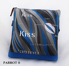 Kabelky - BLUE RAINBOW BAG * SMALL * PARROT® - 7901921_