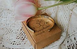 Náramky - Mosadzný náramok s vlastným odkazom - 7899058_