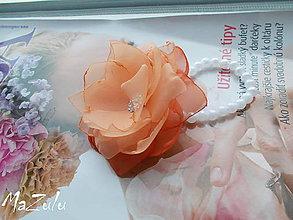Náramky - svadobný náramok v lososovom - 7898692_