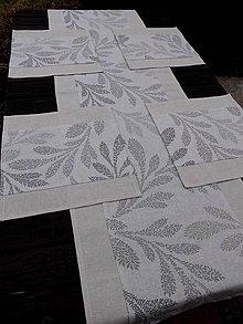 Úžitkový textil - SADA... šedé větvičky - 7902903_