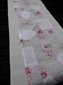 Úžitkový textil - STŘEDOVÝ BĚHOUN ...růžičky - 7902993_