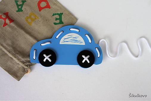 Hračka Autíčko - na jemnú motoriku + RUČNE šité vrecúško