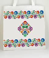 Nákupné tašky - Nákupná taška farebné folk kvety 2 - 7903480_