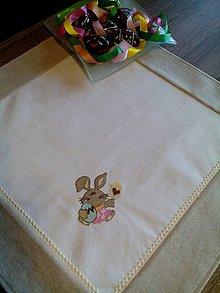 Úžitkový textil - Veľkonočný obrus s výšivkou - 7898914_