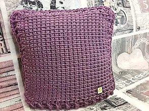 Úžitkový textil - Háčkovaný vankúš VIOLET - 7898933_