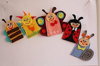 Hračky - Prstové maňušky.  Sady zvieratiek. 5 ks. - 7901223_