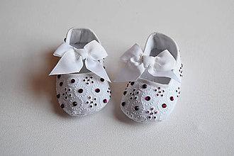 Topánočky - Capačky Crystal Bordó - 7902979_