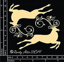 Papier - Dusty Attic - Reindeer - Vianočný sob (výrez z lepenky) - 7900238_