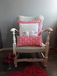 Úžitkový textil - Návliečky na vankúš a voňavé srdiečka pre zaľúbenú dvojicu:) - 7901104_