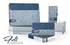 Na tablet - Tabletové plstené púzdro 10 palcové, modré FELT - 7900095_