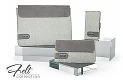 Na tablet - Tabletové plstené púzdro sivé FELT - 7900105_