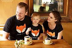Detské oblečenie - Súprava tričiek pre rodinu LÍŠKA - 7899336_
