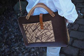 Veľké tašky - Kožená kabelka - Cremona - 7899046_