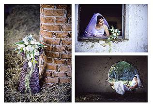 Kytice pre nevestu - kytica a pierko z tulipánov a orchideí - 7902951_