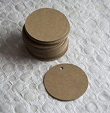 Polotovary - papierové kolieska z recyklovaného papiera - 5 cm - 80ks - 7898782_