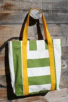 Nákupné tašky - pruhovaná taška - 7903647_