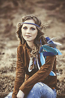 Ozdoby do vlasov - Melírovaná multifunkčná pletená čelenka - 7901497_