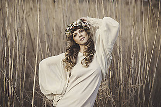 Ozdoby do vlasov - Lesný kvetinový venček - 7901636_