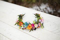 Ozdoby do vlasov - Kvetinový polvenček pre nevestu