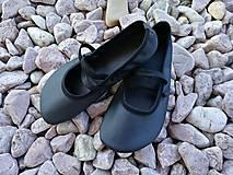 Obuv - barefoot balerínky cierne - 7902056_