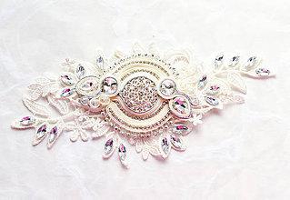 Iné šperky - Svadobná aplikácia+náušnice - 7901735_