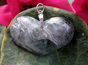 Náhrdelníky - Srdce z kamene - 7903243_