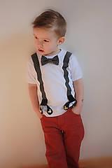 Detské oblečenie - Do ulíc - tričko na traky s motýlikom - 7902952_