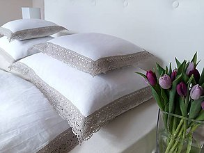 Úžitkový textil - Ľanové posteľné obliečky Josephine - 7903056_