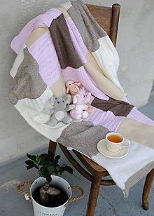 Textil - Béžovo ružová detská deka - 7903532_