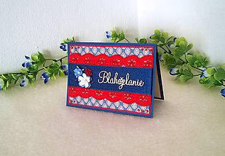 Papiernictvo - Modro-červená pohľadnica - AKCIOVÁ CENA - 7904052_