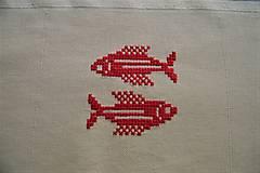 Obrázky - Vyšívaný obrázok, znamenie - ryby - 7904076_
