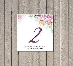 Papiernictvo - Označenie stolov Vodou maľované - 7904167_