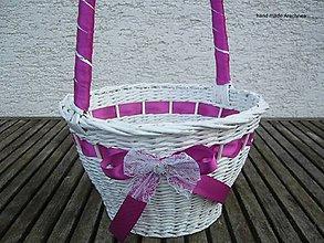 Dekorácie - košíček pre družičku (XXL) - 7904494_