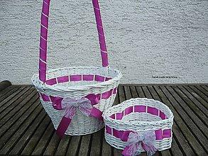 Dekorácie - Svadobné košíčky - menšie sady (fialková so štrasom) - 7904510_