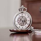 - Mechanické vreckové hodinky s krúžkovanou reťazou - 7904988_
