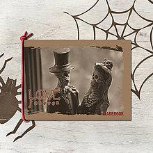 Papiernictvo - MADEBOOK blok s gumičkou A6 - LOVE forever - 7905099_